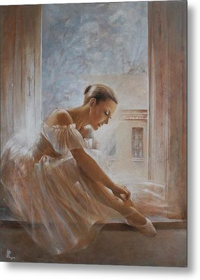 A New Day Ballerina Dance Metal Print by Vali Irina Ciobanu