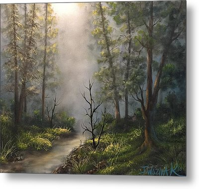 A New Day  Metal Print by Paintings by Justin Wozniak