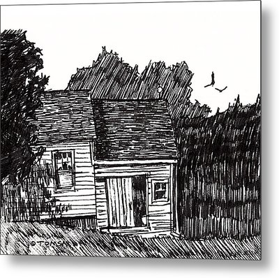 A New England House Metal Print by Bill Tomsa