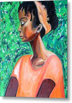 Metal Print featuring the painting A New Queen Of Sheba by Esther Newman-Cohen