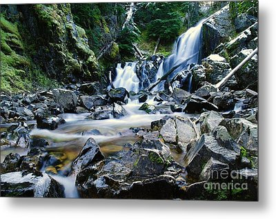 A New Way To The Waterfall  Metal Print by Jeff Swan