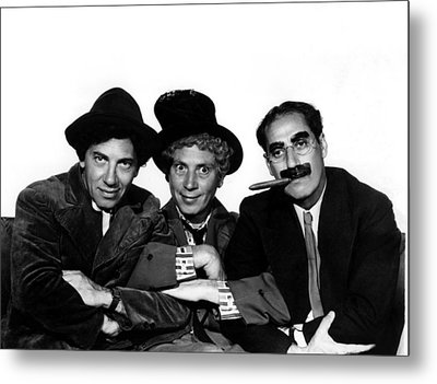 A Night At The Opera, Chico Marx, Harpo Metal Print by Everett