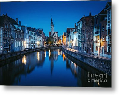 A Night In Brugge Metal Print by JR Photography