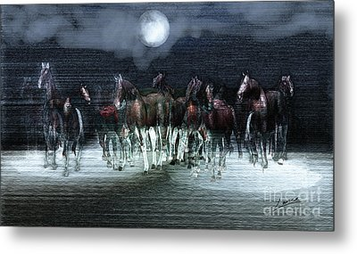 A Night Of Wild Horses Metal Print