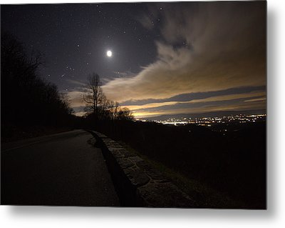 A Night On Skyline Drive Metal Print by Shannon Louder