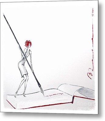 A Novel Idea Metal Print by Barbara Chase