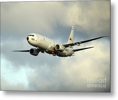 A P-8a Poseidon Conducts Flyovers Metal Print by Celestial Images