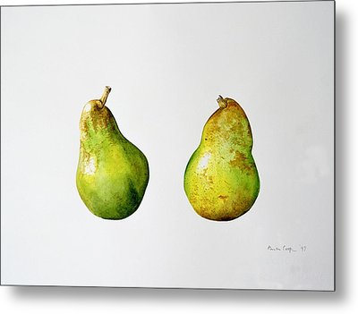 A Pair Of Pears Metal Print by Alison Cooper