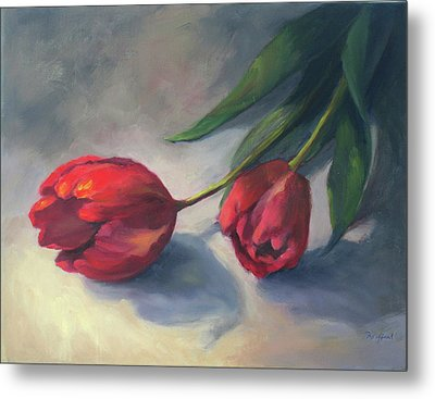 A Pair Of Tulips Metal Print
