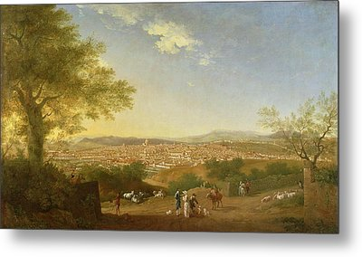 A Panoramic View Of Florence From Bellosguardo Metal Print