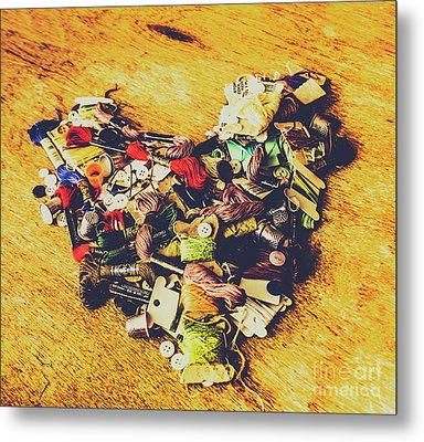 A Patchwork Heart Metal Print by Jorgo Photography - Wall Art Gallery