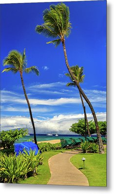 A Path In Kaanapali Metal Print by James Eddy
