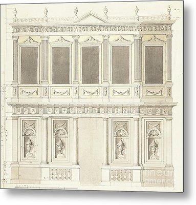 A Pavilion Elevation For The Sultana Hadige Palace At Defterdar Bournou Metal Print by Anton Ignaz Melling