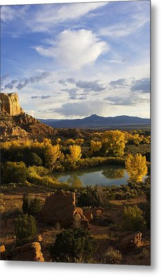 A Peaceful Landscape Stretches Metal Print by Ralph Lee Hopkins
