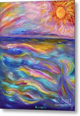 A Peaceful Mind - Abstract Painting Metal Print by Robyn King