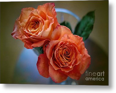 Metal Print featuring the photograph A Peach Delight by Diana Mary Sharpton