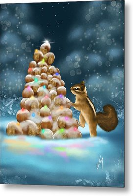 A Perfect Christmas Tree Metal Print by Veronica Minozzi