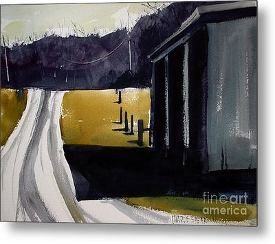 Metal Print featuring the painting A Perfect Shadow by Charlie Spear