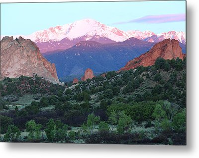 A Pikes Peak Sunrise Metal Print