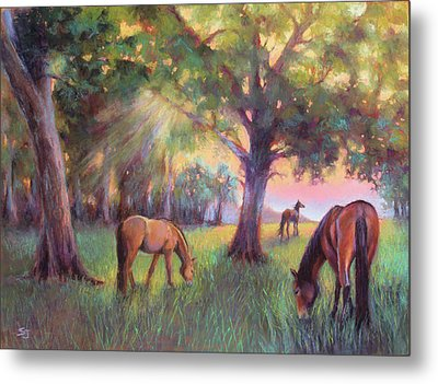 A Place Of Healing Metal Print by Susan Jenkins