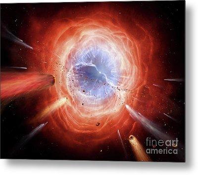 A Planetary Nebula Is Forming Metal Print