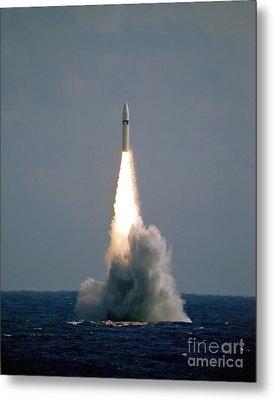 A Polaris A3 Fleet Ballistic Missile Metal Print by Stocktrek Images