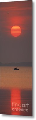 A Power Boat On Its Way To The Fishing Grounds Metal Print by John Harmon