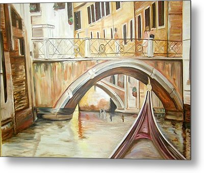 A Quiet Canal Metal Print