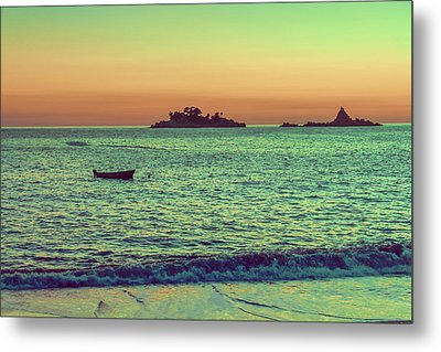 A Quiet Summer Evening On The Montenegrin Coast Of The Adriatic Sea Metal Print