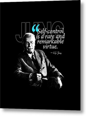 A Quote From Carl Gustav Jung Quote #24 Of 50 Available Metal Print by Garaga Designs