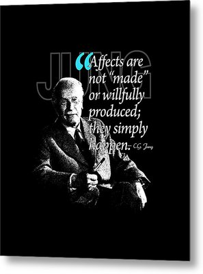 A Quote From Carl Gustav Jung Quote #39 Of 50 Available Metal Print by Garaga Designs