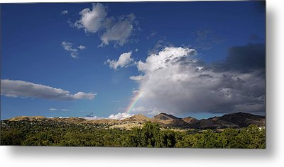 A Rainbow In Salt Lake City Metal Print by Rona Black