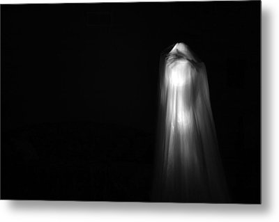 A Real Ghost Photo Metal Print by Michael Ledray