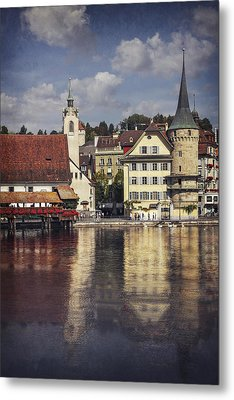 A Reflection Of Lucerne Metal Print