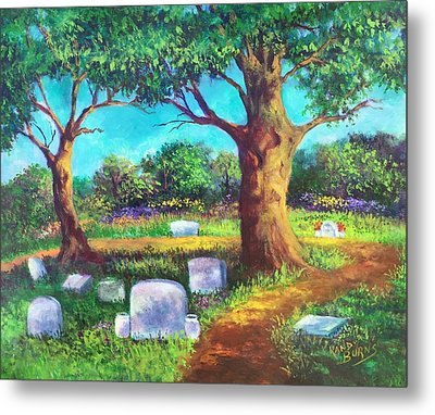 Metal Print featuring the painting A Remembrance by Randol Burns