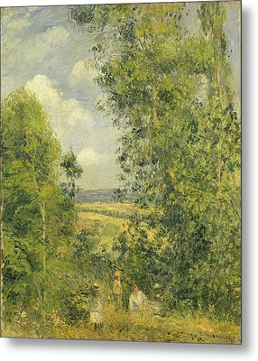 A Rest In The Meadow Metal Print by Camille Pissarro