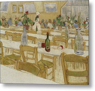 A Restaurant Interior Metal Print by Vincent Van Gogh