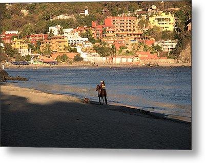 A Ride On The Beach Metal Print by Jim Walls PhotoArtist