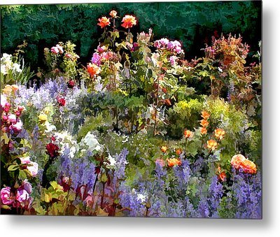 A Riot Of Roses Metal Print by Elaine Plesser