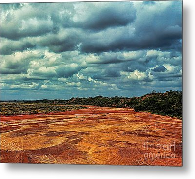 Metal Print featuring the photograph A River Of Red Sand by Diana Mary Sharpton