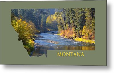 A River Runs Thru Autumn Metal Print