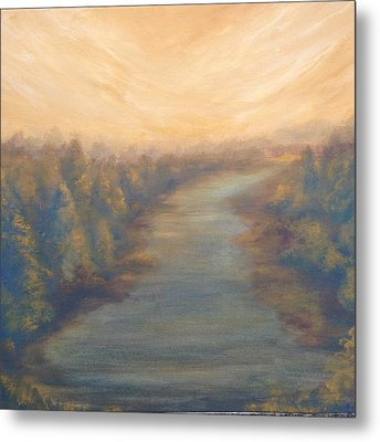 A River's Edge Metal Print by T Fry-Green