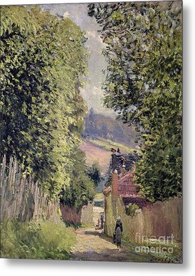 A Road In Louveciennes Metal Print by Alfred Sisley