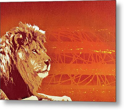 A Roaring Lion Kills No Game Metal Print by Tai Taeoalii