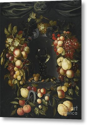A Roemer With Walnuts  Metal Print