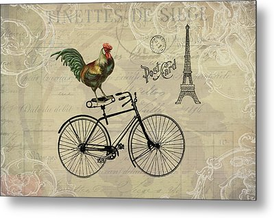 A Rooster In Paris Metal Print