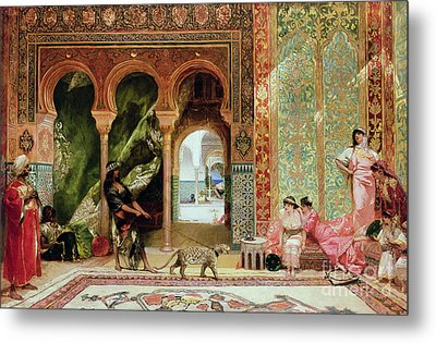 A Royal Palace In Morocco Metal Print by Benjamin Jean Joseph Constant