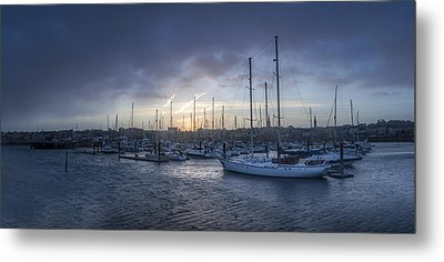 A Sailors Warning At Bangor Marina Metal Print