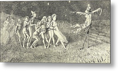A Scarecrow Metal Print by Charles Altamont Doyle