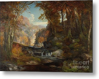 A Scene On The Tohickon Creek Metal Print by Thomas Moran